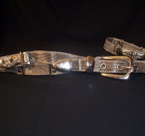 GORGEOUS SILVER MESH BELT