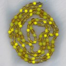 "BEAUTIFUL 56"" ART GLASS VTG. FLAPPER BEADS"