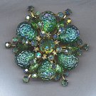 REMARKABLE VINTAGE RHINESTONE BROOCH