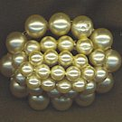LUMINOUS DOMED VINTAGE PEARL OVAL PIN