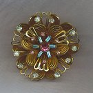 VTG. RHINESTONE BROOCH, MULTI COLORS
