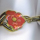 TERRIFIC BRACELET WITH PINK ENAMELED FLOWER