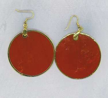 Incredible Red Capiz Shell Earrings