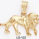 One Dozen Lion Pendant LG-122 Gold Or Rhodium Layering
