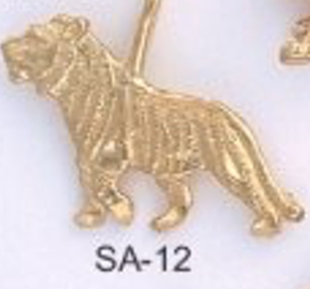 One Dozen Big Cat Tiger Gold  Pendants SA-12