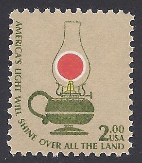 #1611 $2.00 Americana Issue Kerosene Table Lamp 1978 Mint NH