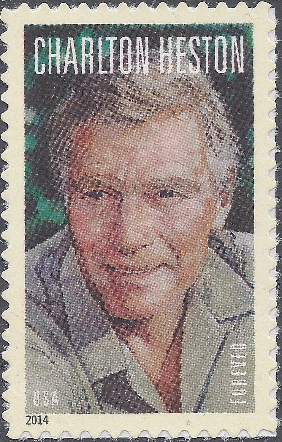 #4892 (49c Forever) Legends of Hollywood Charlton Heston MNH