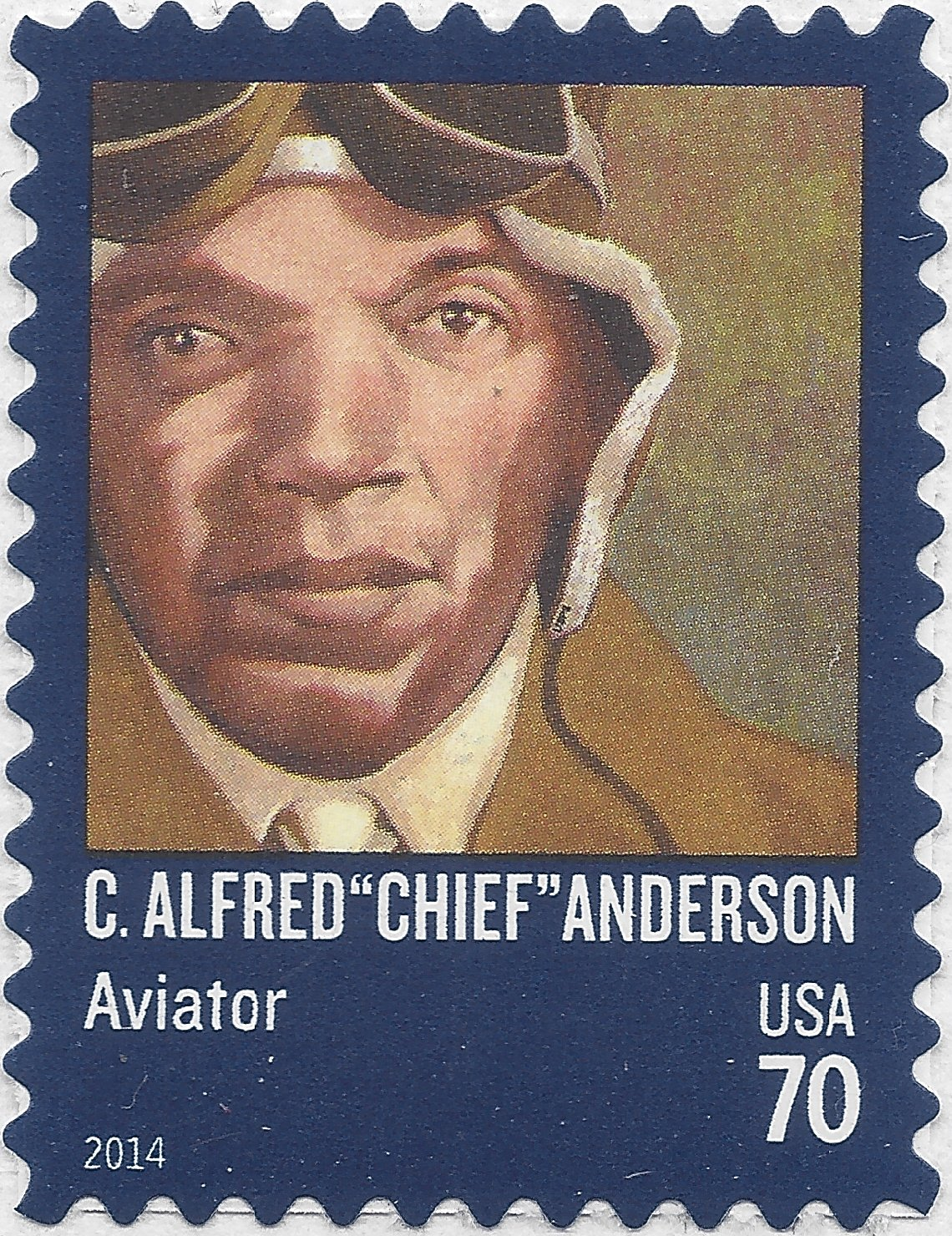 "#4879 70c C. Alfred ""Chief"" Anderson Mint NH"