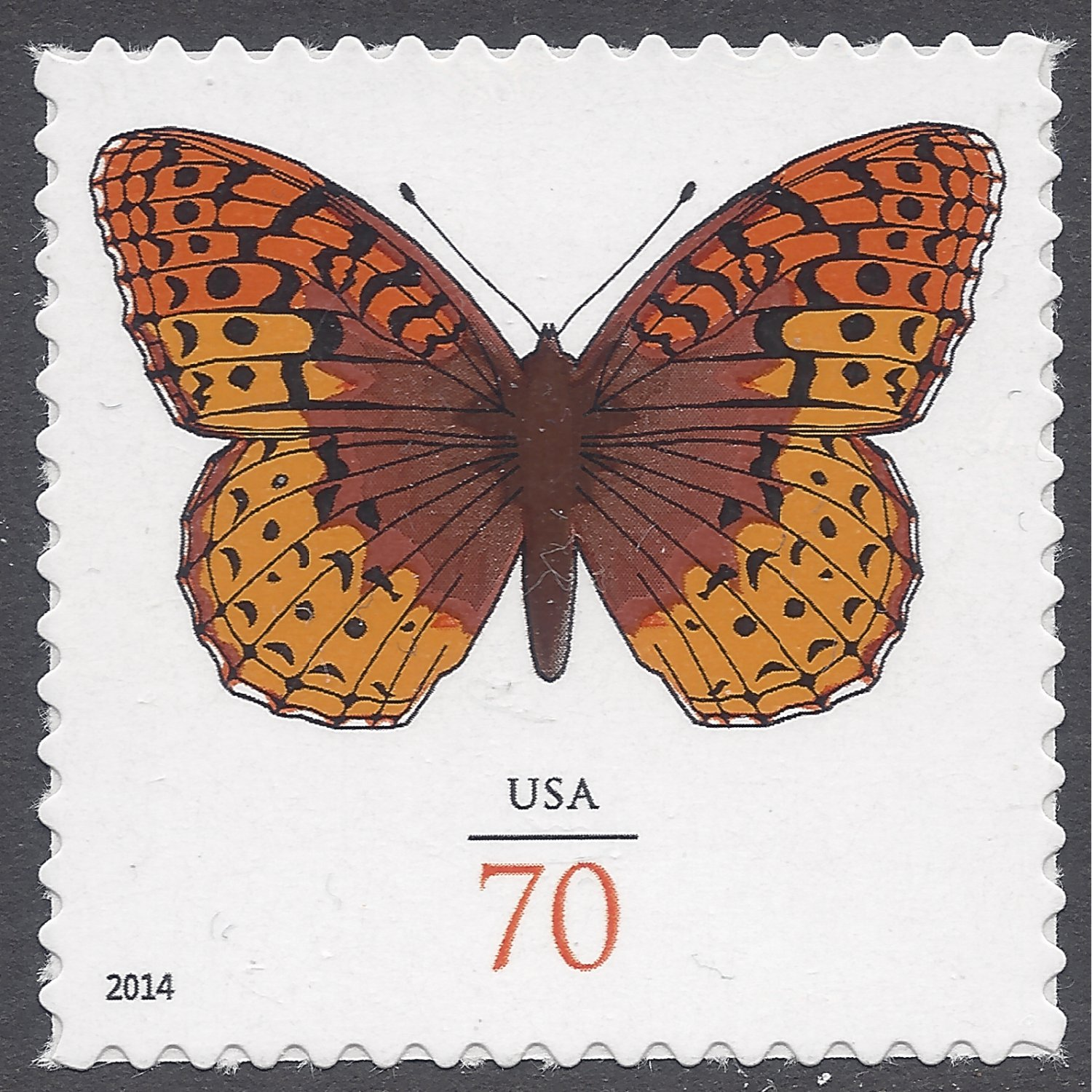 #4859 70c Great Spangled Fritillary Butterfly Mint NH