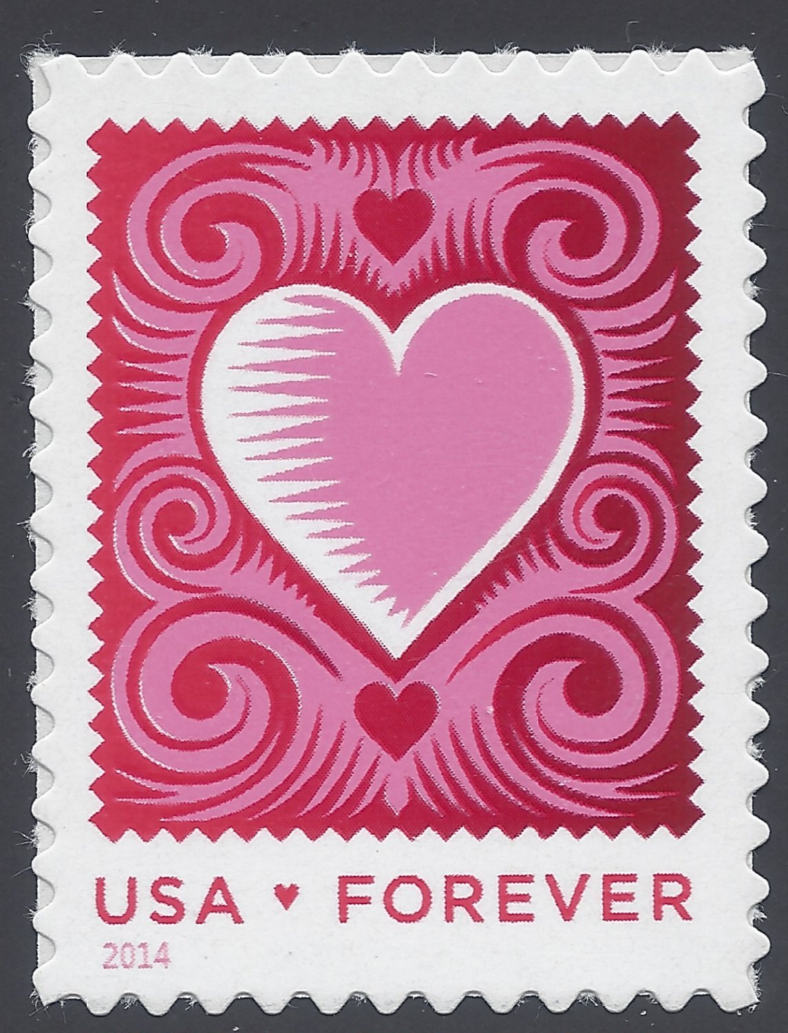 #4847 (Forever) Love Issue, Cut Paper Heart Mint NH