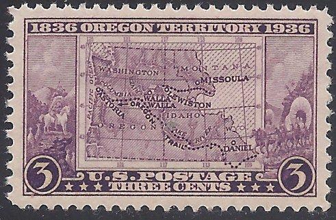 #783 3c 100th Anniv. Oregon Territory 1936 Mint NH