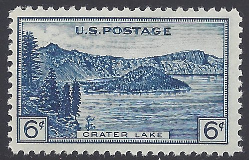 #745 6c National Parks Issue: Crater Lake 1934 Mint NH