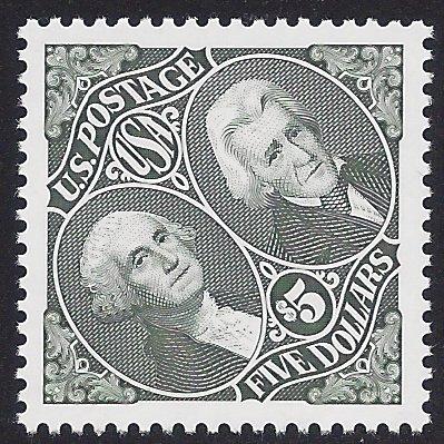 #2592 $5.00 Presidents Washington & Jackson 1994 Mint NH