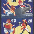 #2750-2753 29c Circus Issue Block of 4 1993 Mint NH