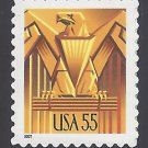 #3471 55c Art Deco Eagle USA 2001 Mint NH