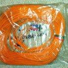 SC/SC Duplex 62.5/125 Multimode Fiber Patch Cable, Orange (30 Meter/98.42 Feet