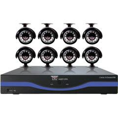 Night Owl Security 16-Channel L-Series DVR with 500GB HDD, HDMI and 8 Night Vision Cameras