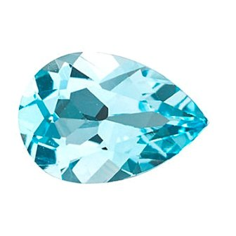 Certified Natural Sky Blue Topaz AAA Quality 8x6 mm Faceted Pear Shape 10 pcs Lot Loose Gemstone