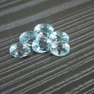 Certified Natural Sky Blue Topaz AAA Quality 6x4 mm Faceted Oval Shape 5 pcs Lot Loose Gemstone