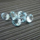 Certified Natural Sky Blue Topaz AAA Quality 7x5 mm Faceted Oval Shape 50 pcs Lot Loose Gemstone