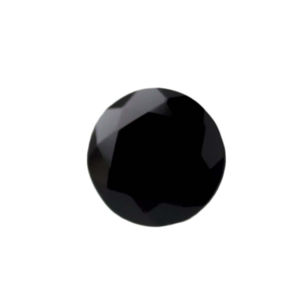 Certified Natural Black Spinal AAA Quality 12 mm Faceted Round Shape 1 pc Loose Gemstone
