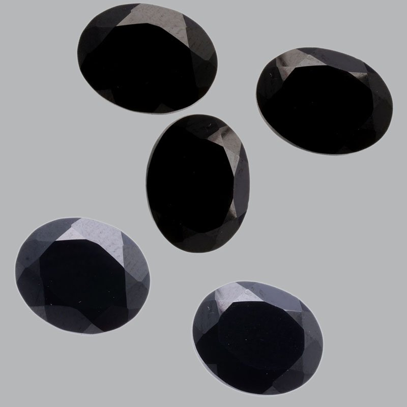 Certified Natural Black Spinal AAA Quality 14x10 mm Faceted Oval Shape 10 pcs Lot Loose Gemston