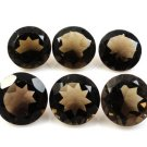 Certified Natural Smoky Quartz AAA Quality 5 mm Faceted Round Shape 5 pcs Lot Loose Gemstoe