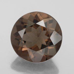 Certified Natural Smoky Quartz AAA Quality 8 mm Faceted Round Shape 1 pc Loose Gemstoe