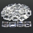 Certified Natural White Topaz AAA Quality 6x4 mm Faceted Octagon Shape 25 pcs Lot Loose Gemstone
