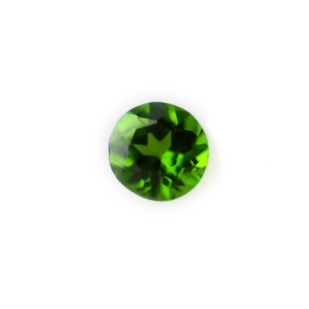 Certified Natural Chrome Diopcide AAA Quality 2 mm Faceted Round Shape 25 pc Lot Loose Gemstone