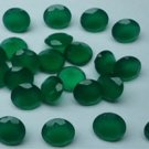 Certified Natural Green Onyx AAA Quality 7 mm Faceted Round Shape 10 pc Lot Loose Gemstone