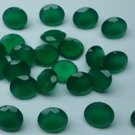 Certified Natural Green Onyx AAA Quality 8 mm Faceted Round Shape 10 pc Lot Loose Gemstone