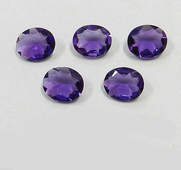 Certified Natural Amethyst AAA Quality 16x12 mm Faceted Oval Shape 5 pcs Lot Loose Gemstone