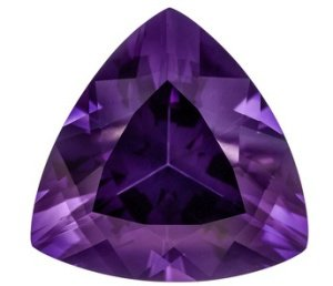 Certified Natural Amethyst AAA Quality 8 mm Faceted Trillion Shape 25 pcs Lot Loose Gemstone