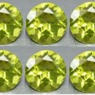 Certified Natural Peridot AAA Quality 1.25 mm Faceted Round Shape 100 pcs Lot Loose Gemstone