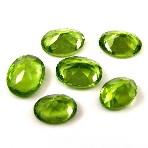 Certified Natural Peridot AAA Quality 6x4 mm Faceted Oval Shape 1 pc Loose Gemstone