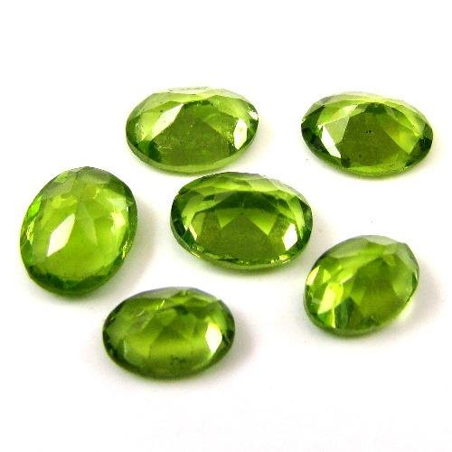 Certified Natural Peridot AAA Quality 7x5 mm Faceted Oval Shape 5 pcs Lot Loose Gemstone