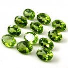 Certified Natural Peridot AAA Quality 7x5 mm Faceted Oval Shape 10 pcs Lot Loose Gemstone