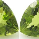 Certified Natural Peridot AAA Quality 4.5 mm Faceted Trillion Shape Pair Loose Gemstone