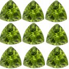 Certified Natural Peridot AAA Quality 5.5 mm Faceted Trillion Shape 10 pcs Lot Loose Gemstone