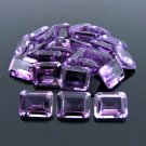 Certified Natural Amethyst AAA Quality 6x4 mm Faceted Octagon Shape 25 pcs Lot Loose Gemstone
