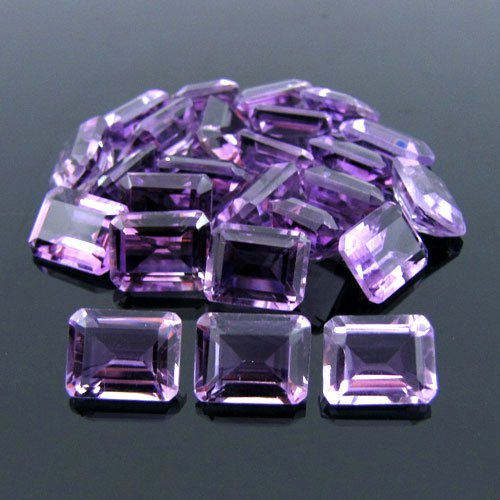 Certified Natural Amethyst AAA Quality 9x7 mm Faceted Octagon Shape 10 pcs Lot Loose Gemstone