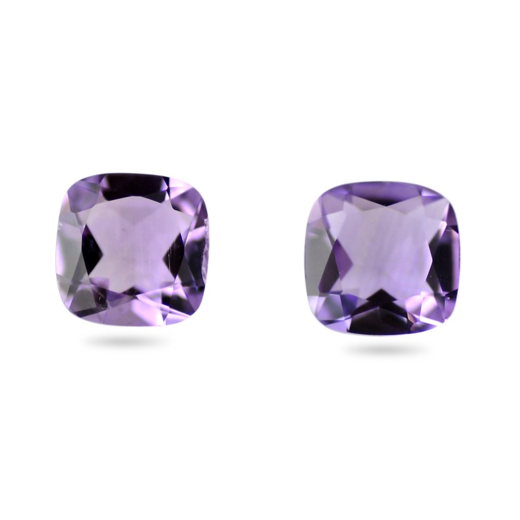 Certified Natural Amethyst AAA Quality 12x10 mm Faceted Cushion Shape 5 pcs Lot Loose Gemstone