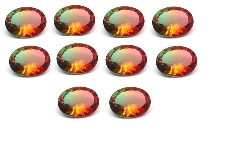 Certified Quartz Doublete Bi Color AAA Quality 8x6 mm Faceted Oval Shape 25 pcs lot Loose Gemstone