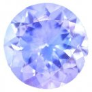 Certified Natural Tanzanite A Quality 5.5 mm Faceted Round 1 pc loose gemstone
