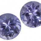 Certified Natural Tanzanite AA Quality 4.5 mm Faceted Round 5 pcs lot loose gemstone
