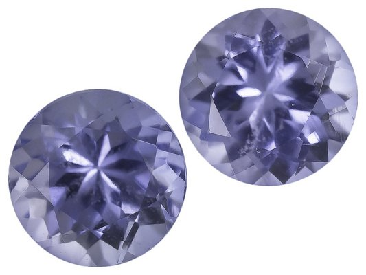 Certified Natural Tanzanite AA Quality 5 mm Faceted Round 2 pcs Pair loose gemstone