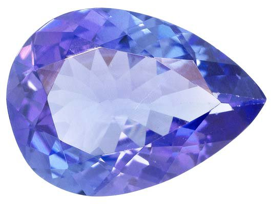 Certified Natural Tanzanite AA Quality 8x6 mm Faceted Pear 1 pc loose gemstone