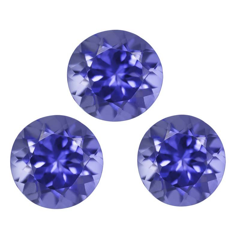 Certified Natural Tanzanite AAA Quality 2 mm Faceted Round 50 pcs lot loose gemstone