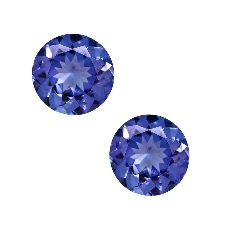 Certified Natural Tanzanite AAA Quality 2 mm Faceted Round 100 pcs lot loose gemstone